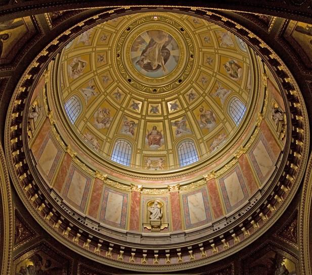 A bazilika kupolája - Szent István Bazilika