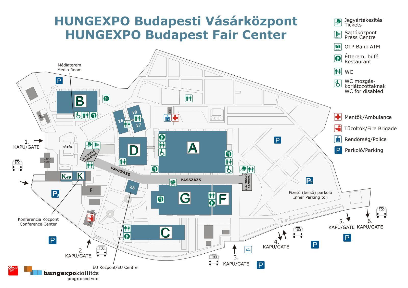 hungexpo térkép budapest Hungexpo   Budapesti Vásárközpont , Budapest   Helyszín  hungexpo térkép budapest
